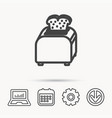 toaster icon sandwich machine sign vector image