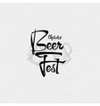 Beer Fest oktoberfest- vintage typography emblem vector image