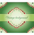 Vintage green background vector image