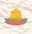 Vintage label with Easter egg vector image