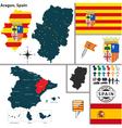 Map of Aragon vector image