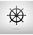Ship wheel black icon vector image