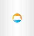 circle book icon logo design element vector image