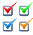 Colorful check marks vector image