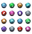 Community icons set vector image