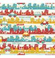 Cute urban traffic vector image
