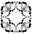 decorative frame geometric pattern in black color vector image