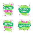 modern set of healthy vegan vegetarian vector image