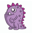 Purple monster for kids t-shirt design vector image