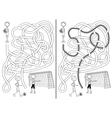 Soccer maze vector image