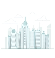 City background urban landscape line vector image