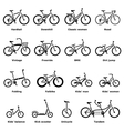 Bicycle types icons set simple style vector image