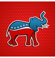 USA Republican party elephant vector image vector image