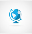 globe icon geography vector image
