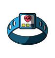 heart rate clock vector image