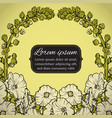floral wreath postcard with flowers vector image