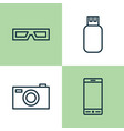 device icons set collection of telephone vector image