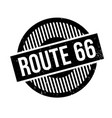 route 66 rubber stamp vector image
