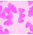 Valentines day background pink hearts vector image