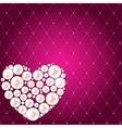 Romantic Flower Vintage Invitation Card Background vector image vector image