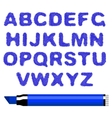 marker alphabet vector image vector image