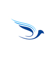 bird fly abstract aviation logo vector image