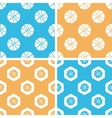 Basketball pattern set colored vector image