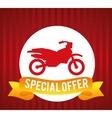 Motorcycle offer vector image