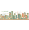 Abstract Vancouver skyline with color landmarks vector image