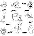 Ghost halloween in doodle hand draw vector image