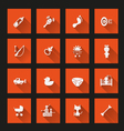 Baby icons long shadow vector image