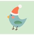 Blue bird vector image