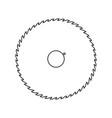 circular saw blade black color path icon vector image