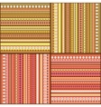 Colorful ethnic seamless pattern design set vector image