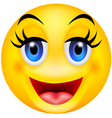 funny smile emotion vector image
