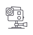 go pro video camera line icon sign vector image