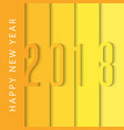 happy new year 2018 calendar cover design vector image