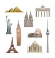 landmarks of the world vector image
