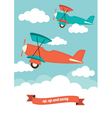 Planes in the clouds vector image