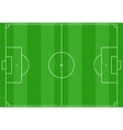 Realistic striped green football or soccer field vector image