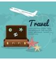 travel suitcase airplane design vector image