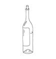 wine botle icon vector image