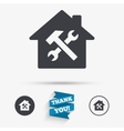 Service house Repair tool icon Service symbol vector image