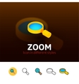 Zoom icon in different style vector image