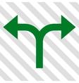 Bifurcation Arrows Left Right Icon vector image