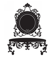 Vintage Baroque Imperial Dressing Table set vector image