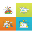 Development management investment and payments vector image