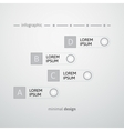 White round and strip design template vector image