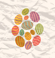 Set Easter eggs vintage celebration background vector image vector image