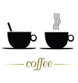cup of coffee on a white vector image
